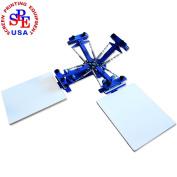 Screen Printing Machine Silk Screen Printing Machine Screen Printing Press 4 Colour 2 Station T-shirt Screen Printing Equipment DIY Printer
