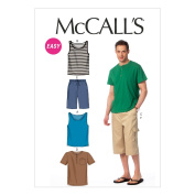 """McCall Pattern Company M6973 Men's Tank Tops, T-Shirts and Shorts, Size XM """"SML-MED-LRG"""""""