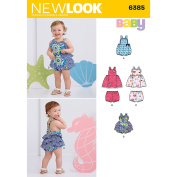 NEW LOOK 6385 Babies' Dress, Romper and Panties Sewing Kit, Size A