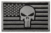WZT Punisher American Flag Patch Military Patch / Velcro Morale