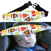 Honice Infants and Baby Head Support Pram Stroller Safety Seat Fastening Belt Adjustable Playpens Sleep Positioner
