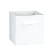 Fabric Storage Bins, White