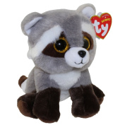 "New Ty Beanie TY Beanie Baby - BANDIT the Raccoon (6 inch) Boos Cute Ty Beanie Baby - Plush Toys 6"" 15cm Ty Plush Animals Big Eyes Eyed Stuffed Animal Soft Toys for Kids Gifts ..."