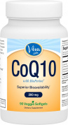 Viva Labs High Absorption CoQ10 with BioPerine®, 200mg, 90 Veggie Softgels
