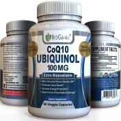 Best CoQ10 Ubiquinol 100mg - Powerful Extra Bioavailable Formula With Clinically Proven Kaneka QH - Powerful Antioxidant Promotes Heart Health, Increases Energy & Helps Prevent Free Radical Damage