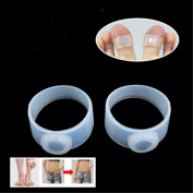 1 Pair Keep Slim Health Slimming Fit Loss Weight Silicone Magnetic Toe Ring