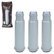 KRUPS F088 Aqua Filter System Water Filtration Cartridge - 3 Pack