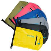 DrySak Premium Dry Bag with Exterior Zip Pocket, Shoulder Strap and Reflective Trim | 10L & 20L Sizes by Sak Gear