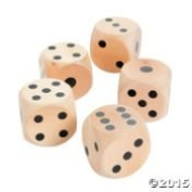 Large Wood Yard Dice - Lawn Dice Game - Dice Decorations