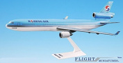 Korean Air (84-Cur) MD-11 Aeroplane Miniature Model Plastic Snap-Fit 1:200 Part# AMD-01100H-011