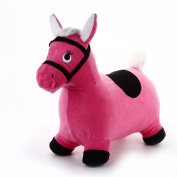 Hopping Horse - iPlay, iLearn Toddler Horse Hopper Inflatable Ride On Horse Toys Plush covered with pump