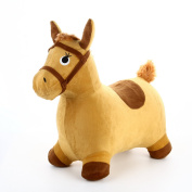 Hopping Horse - iPlay, iLearn Toddler Riding Horse Hopper Inflatable Ride On Horse Toys Plush covered with pump