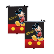 Mickey Mouse - Genuine Disney Marvel Sanrio Car Sun Shades Rollers Window Blinds for Kids Children Baby - Set of 2