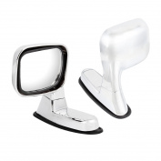 2 Pcs Silver Tone Adjustable Rearview Assistant Fender Mirror for Car