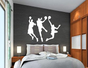 3 Play Basketball Players Wall Decal Wall Sticker