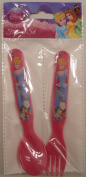 Disney Princess Children Eating Cutlery Set [Fork (1) and Spoon (1)]
