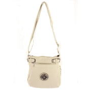 Large Belted Crossbody with Round Bottom Zipper