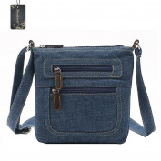 Donalworald Women Short Style Denim Shoulder Bags Purse Messenger Crossbody Handbag