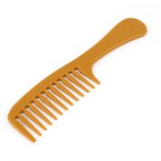 Plastic Women Lady Hairdressing Wide Toothed Hair Comb Brown