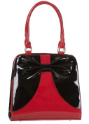 Banned Apparel Lila Bow Retro Rockabilly Handbag Red Black Red