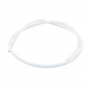 RC Ship White Clear Plastic Flexible Pipe Hose 600mm for 4mm Dia Shaft