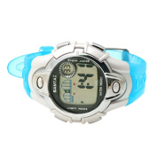 Blue Band Round Case Multifunctional Alarm Sports Watch