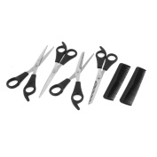 Beauty Hair Cutting Thinning Scissors Shears Haircut Comb Tool 6 in 1