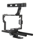 VILTROX VX-11 Aluminium Alloy Camera Video Cage Film Movie Making Kit 15mm Rod Rig Camera Video Cage Kit+Top Handle Grip for Sony A7 A7r A7s GH4 A6300