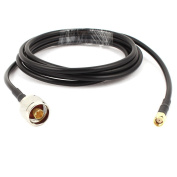 N Type Male to RP-SMA Male 2m Antenna Coaxial RG58 Cable Connector