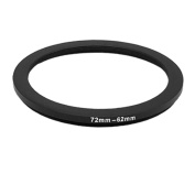 Step Down Black Adapter Ring 72mm Lens to 62mm Filter