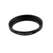 Replacement 34mm-37mm Camera Metal Filter Step Up Ring Adapter