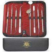 BeautyTrack® New Dental Tarter Calculus Plaque Remover - Tweezers - Cement Spatula - Tooth Scraper Dental Mirror & Scaler kit Set