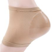 Plantar Fasciitis Sleeve Soft Socks khaki One pair Heel Brace