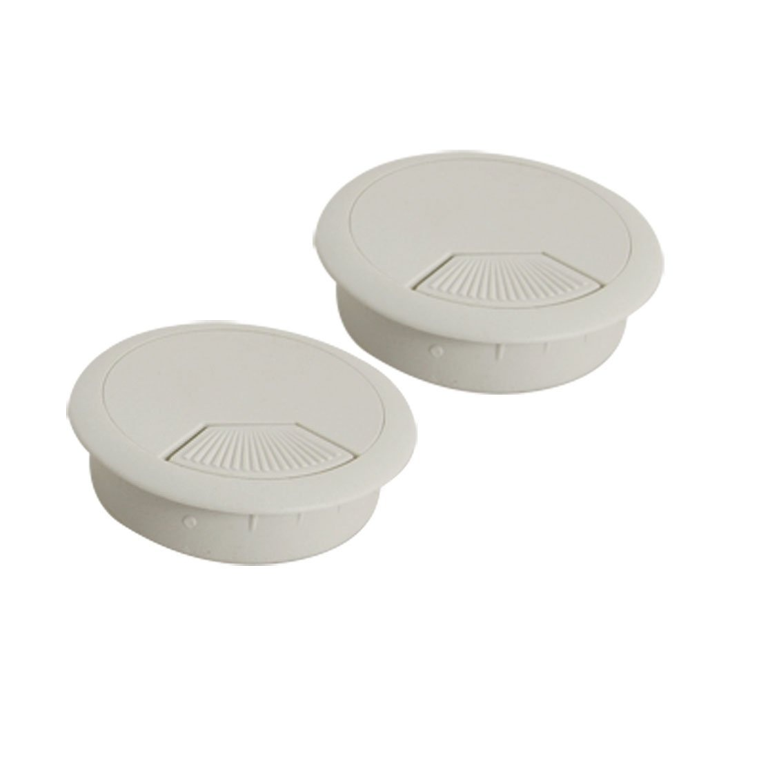 Astounding 2 Pcs Light Grey Round Plastic Desk Grommets Wire Hole Cap Cover By Wiring 101 Capemaxxcnl