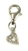 Kala-isbijoux Ladies'Heart Charm Silver 925/1000 and Cubic Zirconia Women