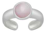 AG2AU Sterling Silver Toe Ring - Pink Shell