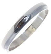 Classical 925 Sterling Silver Ladies Bangle - 19cm*9mm, 17 Grammes