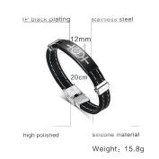 Daesar Stainless Steel Bracelet Womens Rubber Silicone Bracelets Sex Symbol Lesbian Pride LGBT Bangle
