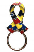 NEW Autism Awareness Puzzle Ribbon Glasses Brooch Pin Holder Charity Spectacle Hanger