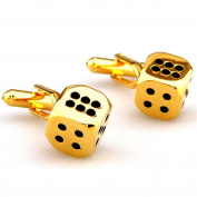Covink God of Gamblers Gambling Dice Cufflinks Las Vegas Board Game Luck