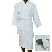 Terry Bathrobe Cotton Plus Slippers