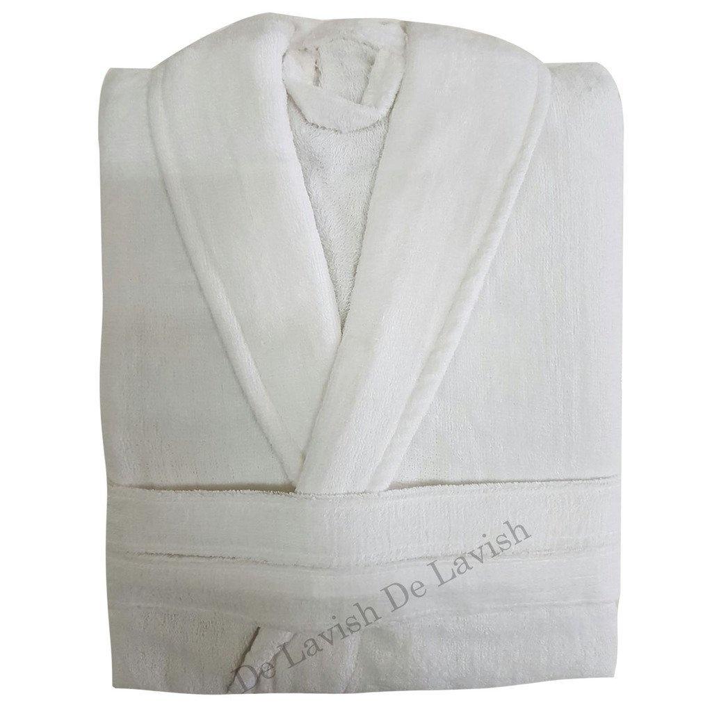 Ladies Bathrobe Long Womens Mens Bath Robe Soft 100% Egyptian Cotton ...