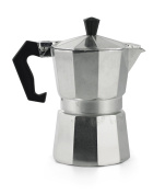 Galileo Casa 2175870 Coffee Maker, 3 Cups, Aluminium, Grey