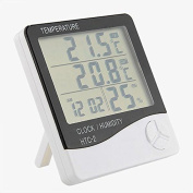 Digital Lcd Thermometer Hygrometer Temperature Humidity Metre Indoor/Outdoor New Gauge Clock Alarm