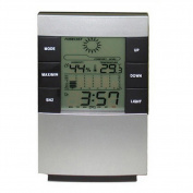 Demiawaking Home Large LED Backlight Digital Calendar Thermometer Hygrometer Clock