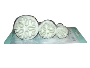 'Biscuit Cutter Set of 3 Snowflake with Discharge Function