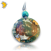 Large Orgone pendant with Turquoise
