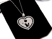 I Love My Cat ' - Elegant Necklace with Heart Pendant 925 Sterling Silver * Cat - Cat Kitten