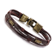 Presentski Fashion Multi-Layer Genuine Leather Man Bracelets for Father Brother Gift