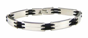Bracelet - 316L Stainless Steel and Rubber Men